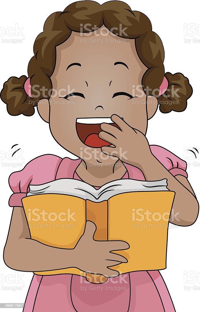 Girl Funny Book royalty-free stock vector art