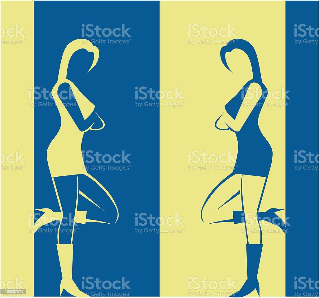 Girl in boots - vector symbol royalty-free stock vector art