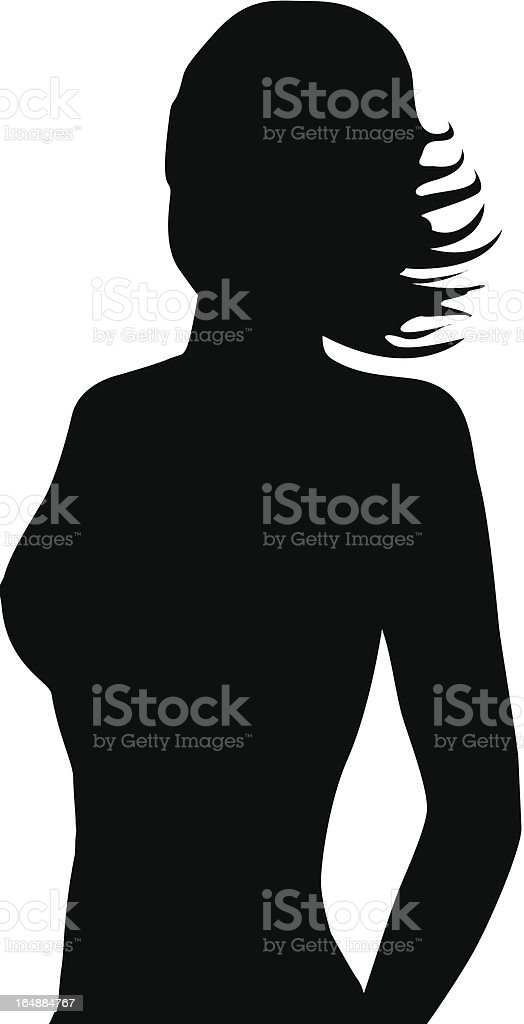 Girl in Profile 2 royalty-free stock vector art