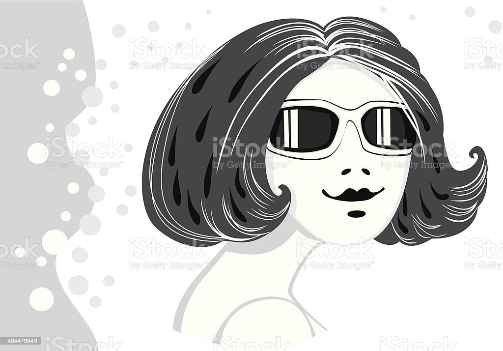 Girl in sun glasses royalty-free stock vector art