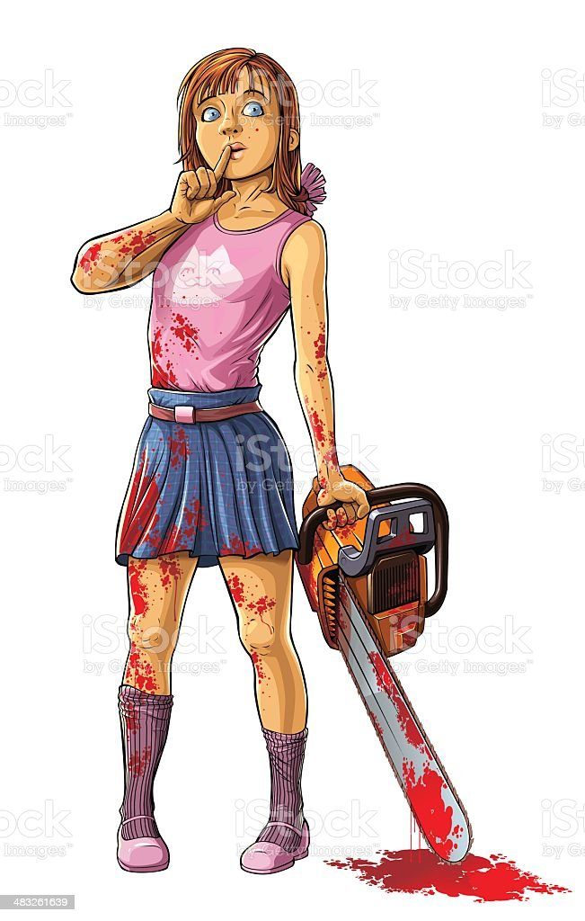 Girl Killer vector art illustration