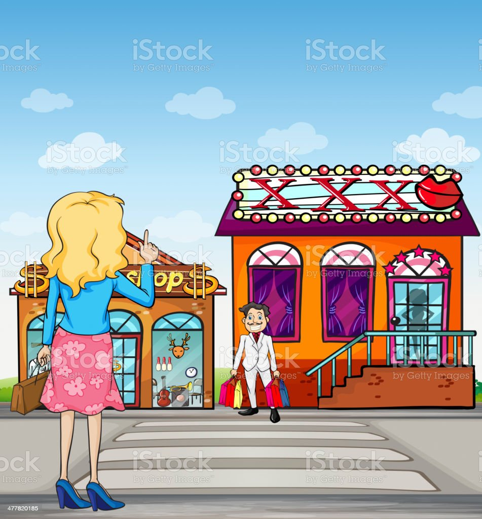 girl making a sign to wait royalty-free stock vector art