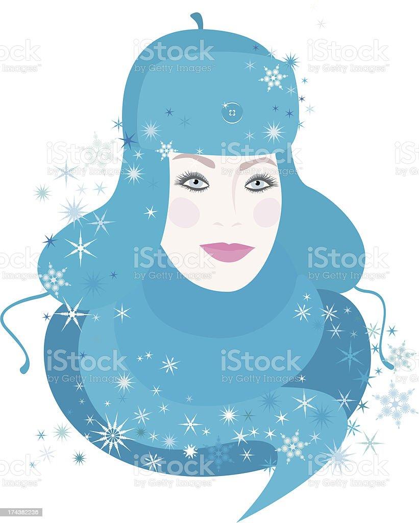 Girl of Winter royalty-free stock vector art