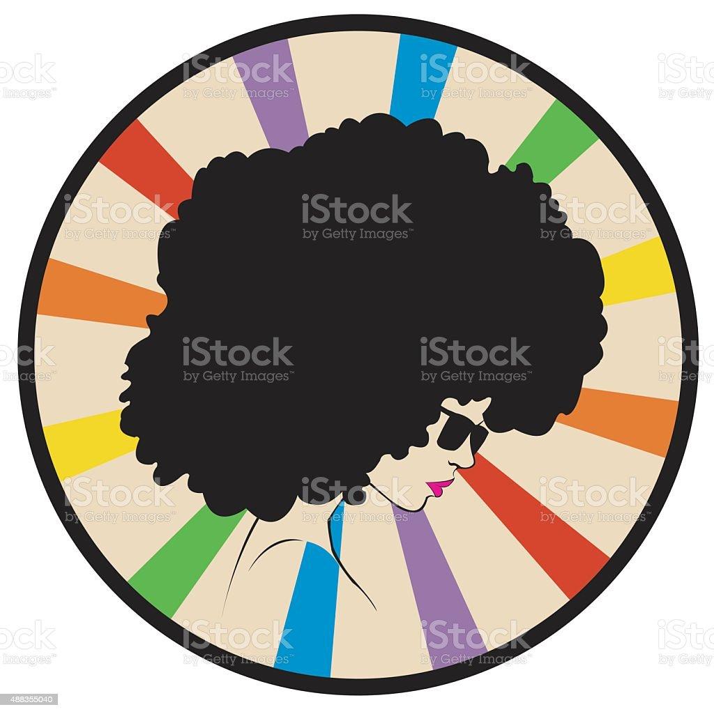 girl on a rainbow background royalty-free stock vector art