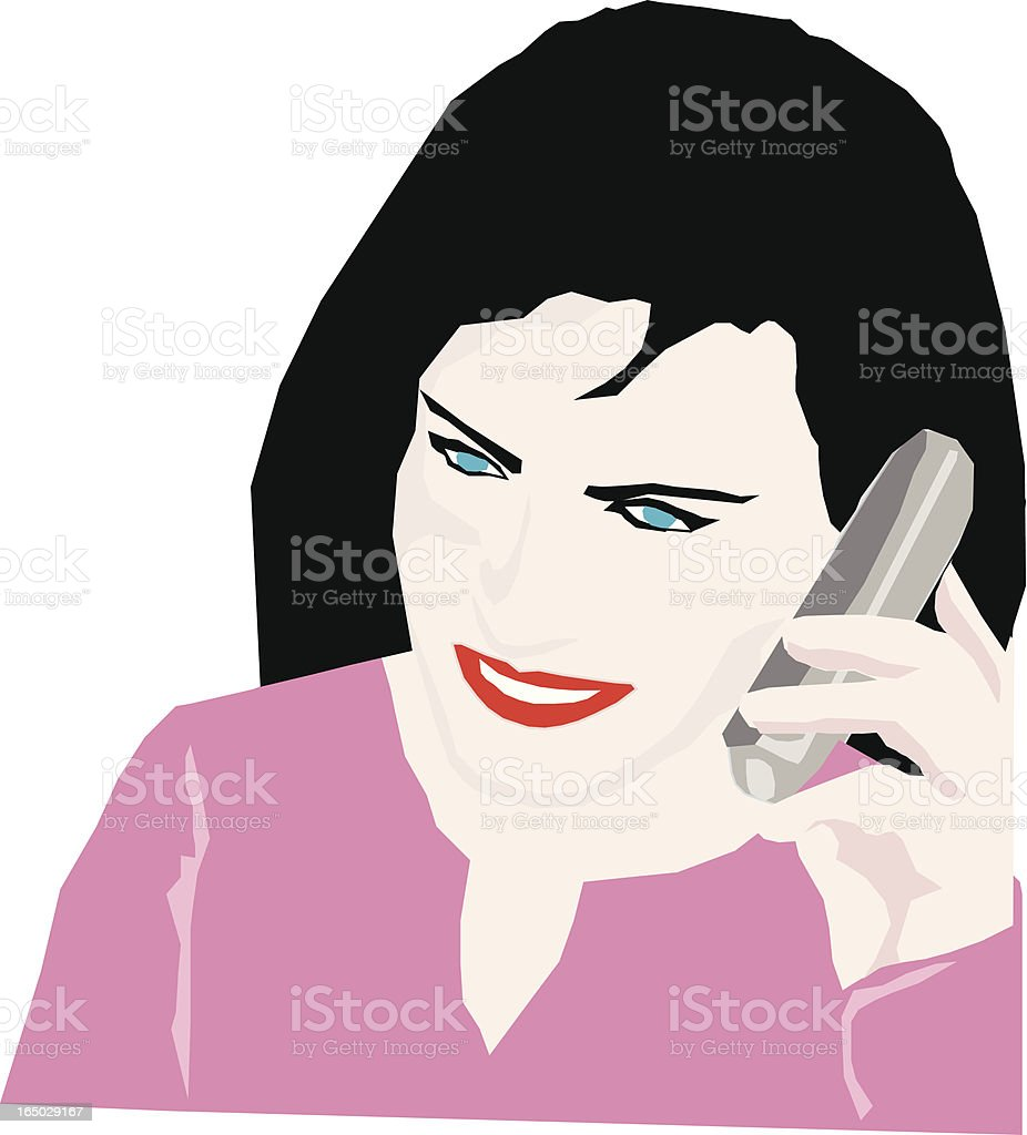 Girl on the phone royalty-free stock vector art