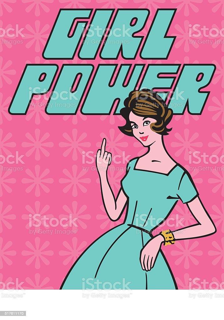 Girl Power vector art illustration