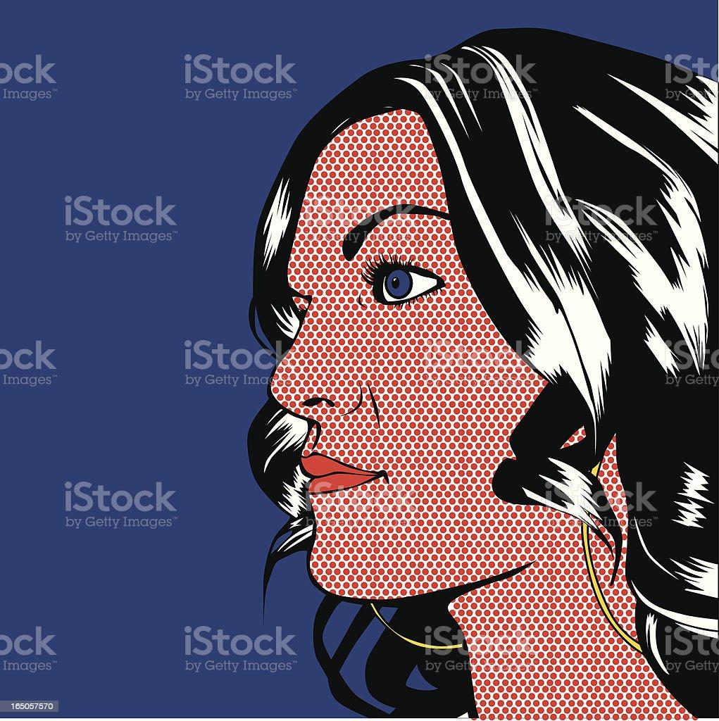 Girl Profile royalty-free stock vector art