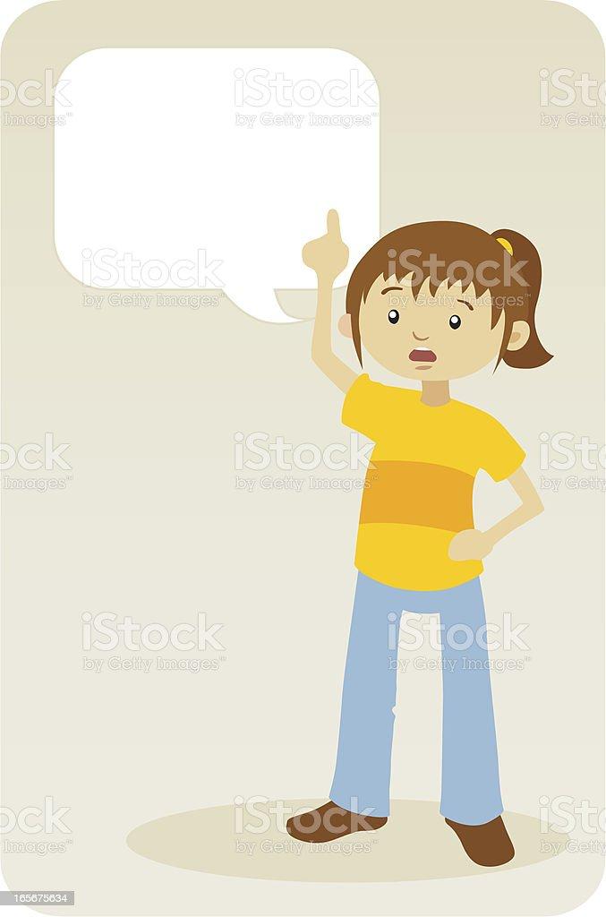 Girl Saying Something royalty-free stock vector art