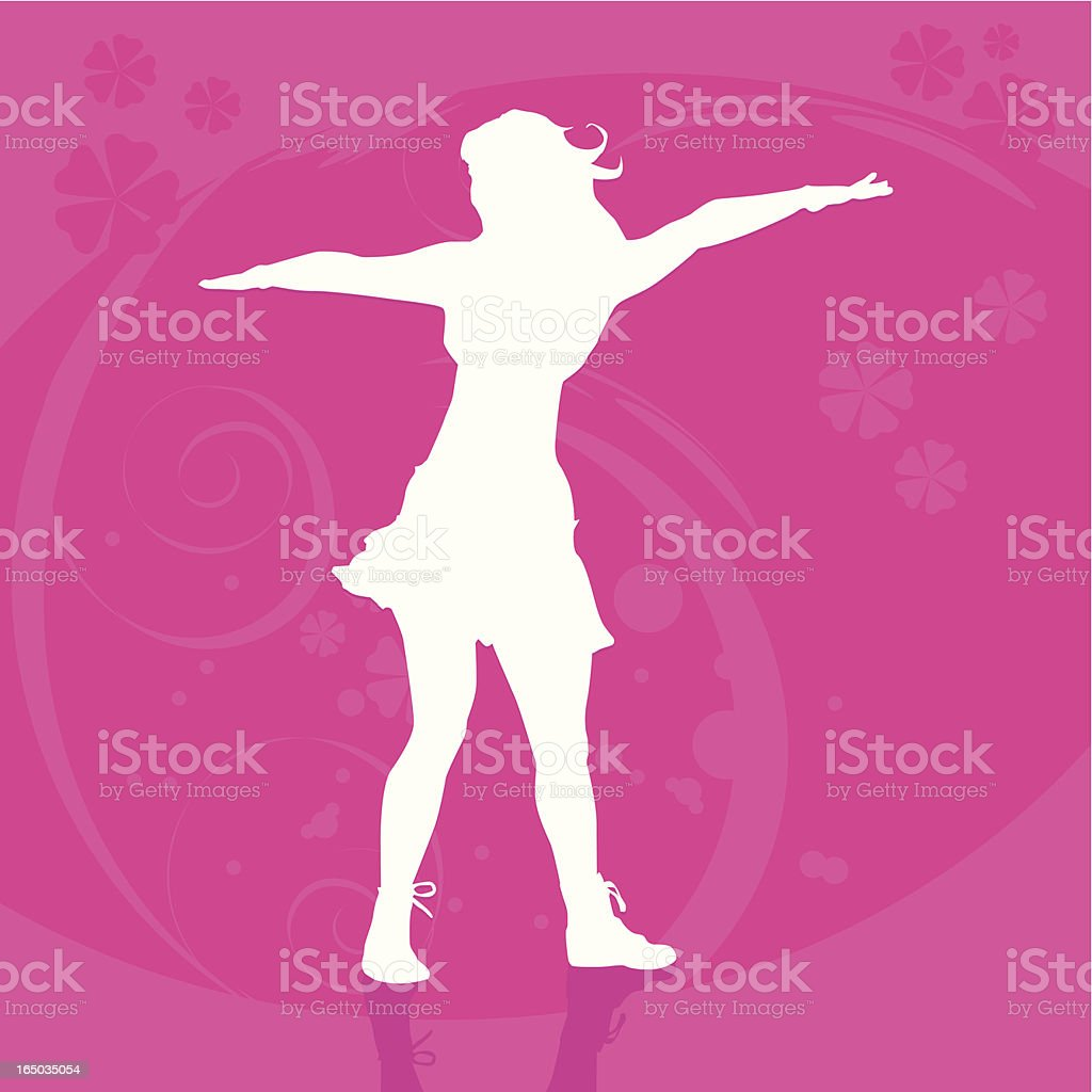 Girl Silhouette royalty-free stock vector art