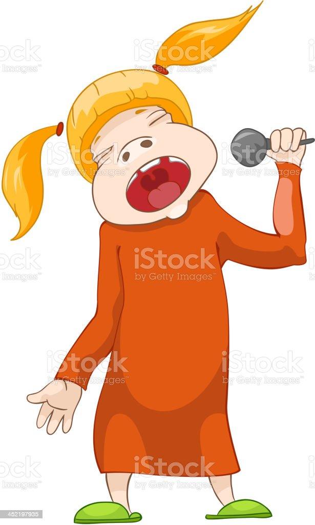 Girl Singer royalty-free stock vector art
