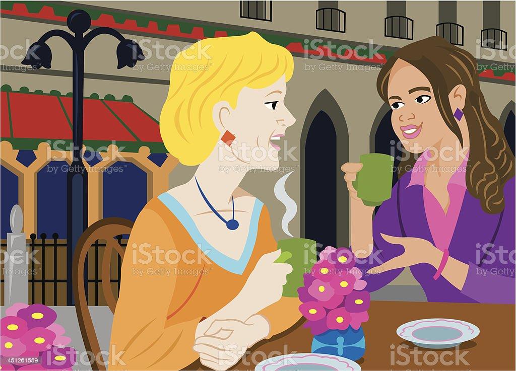 Girl Talk - Freindship, Relationship vector art illustration