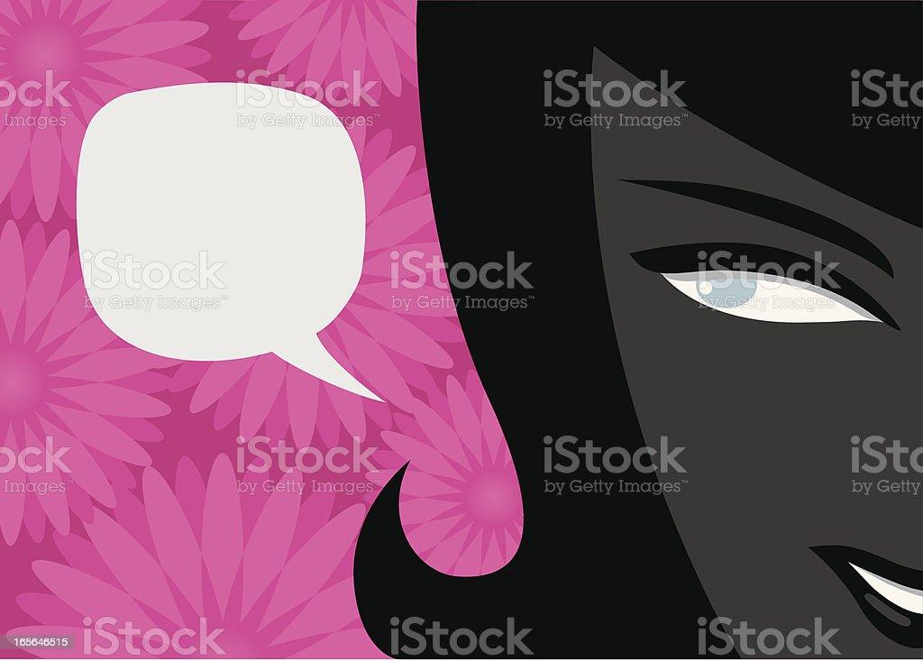 Girl Talk vector art illustration