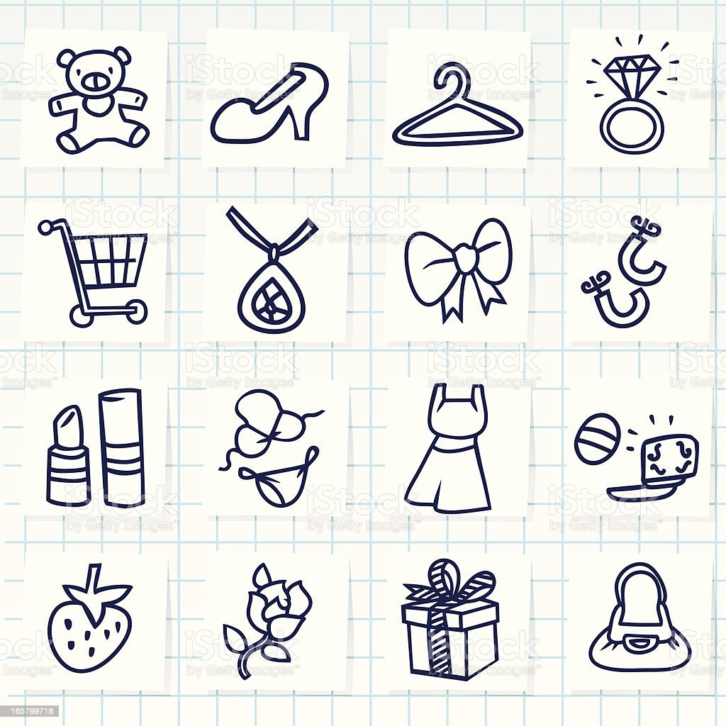 Girl Things Icon vector art illustration