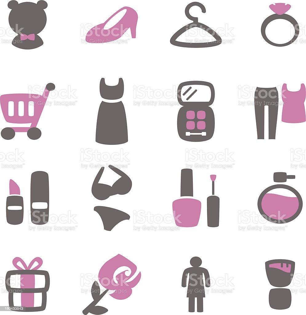 Girl Things Icon vector art illustration