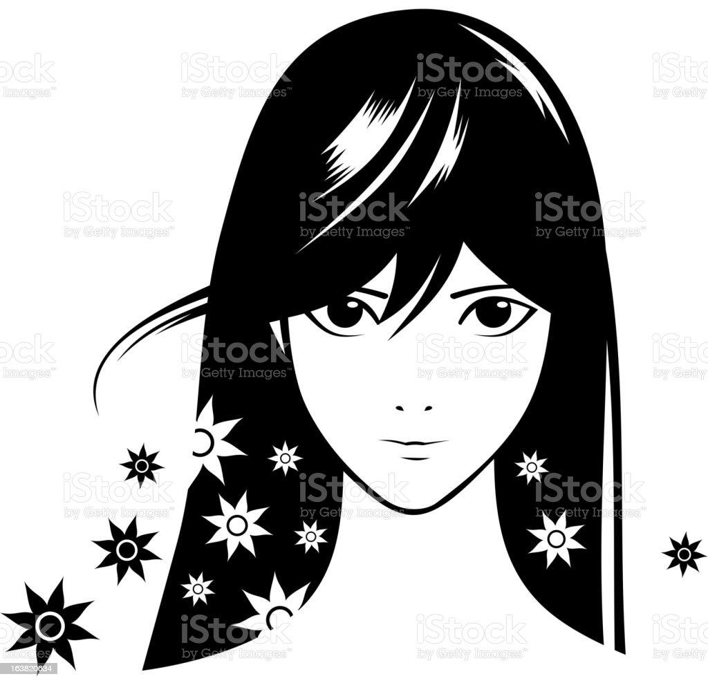 girl royalty-free stock vector art