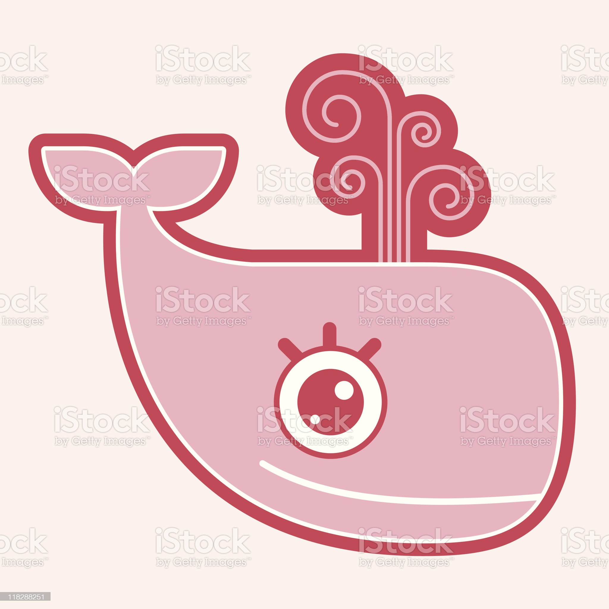 Girl Whale royalty-free stock vector art