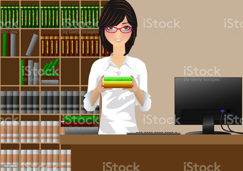 Girl with books royalty-free stock vector art