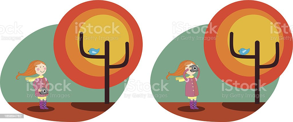 girl with camera royalty-free stock vector art