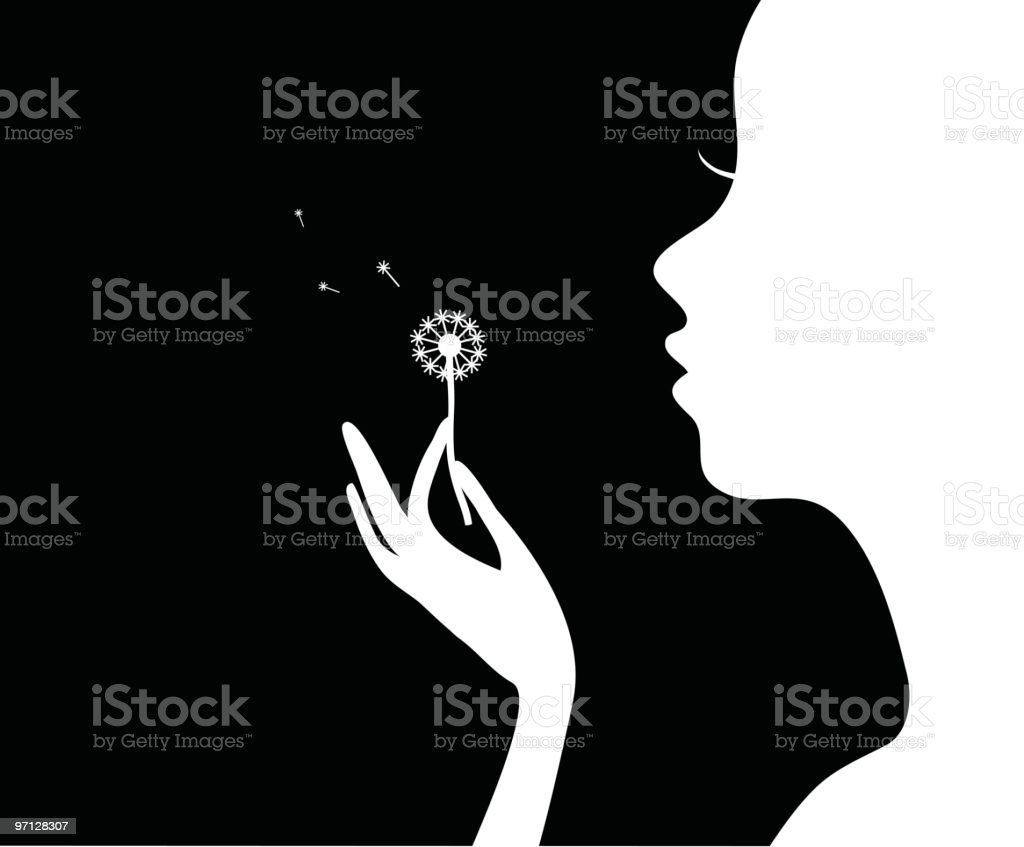 Girl with flower. royalty-free stock vector art