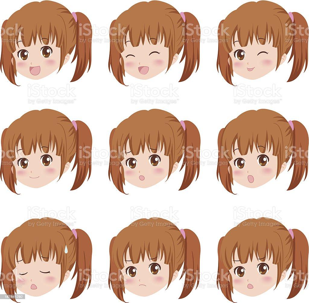 girl_face royalty-free stock vector art