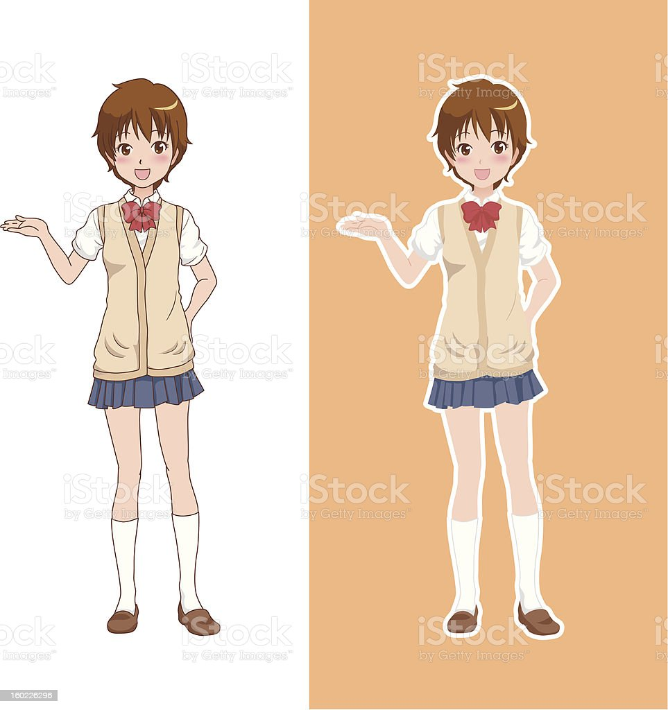 girl_guide royalty-free stock vector art