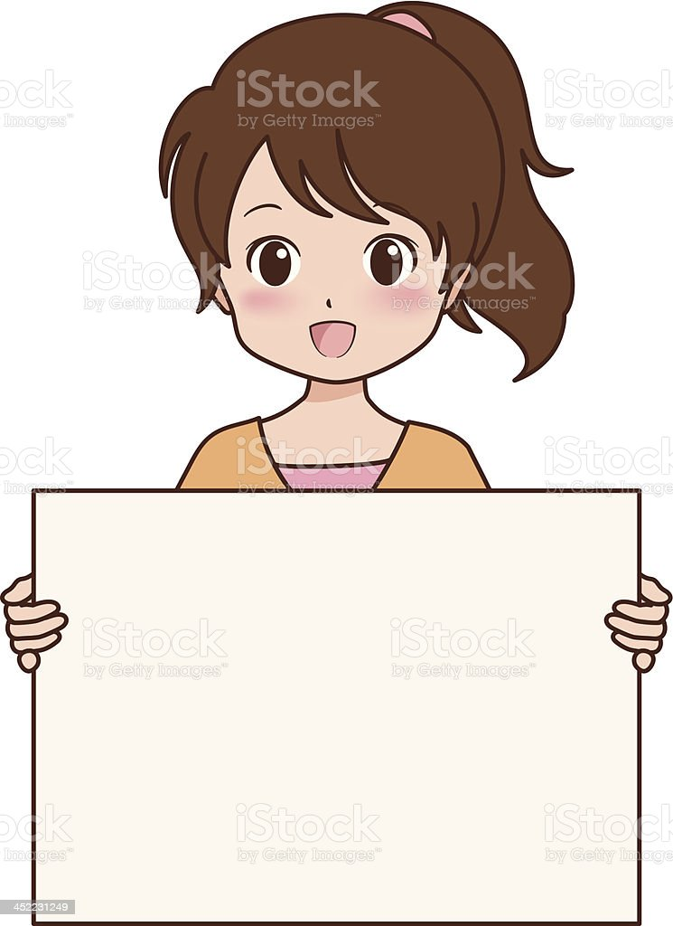 girl_guide royalty-free stock vector art