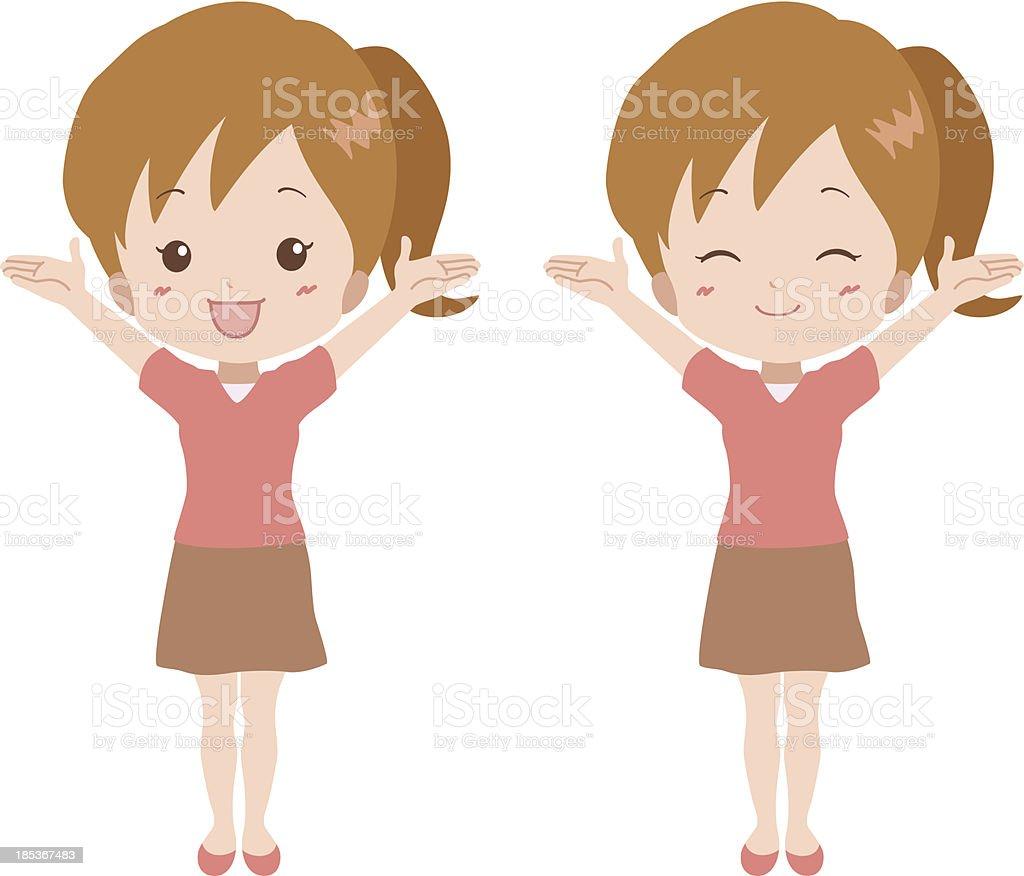 girl_happy royalty-free stock vector art