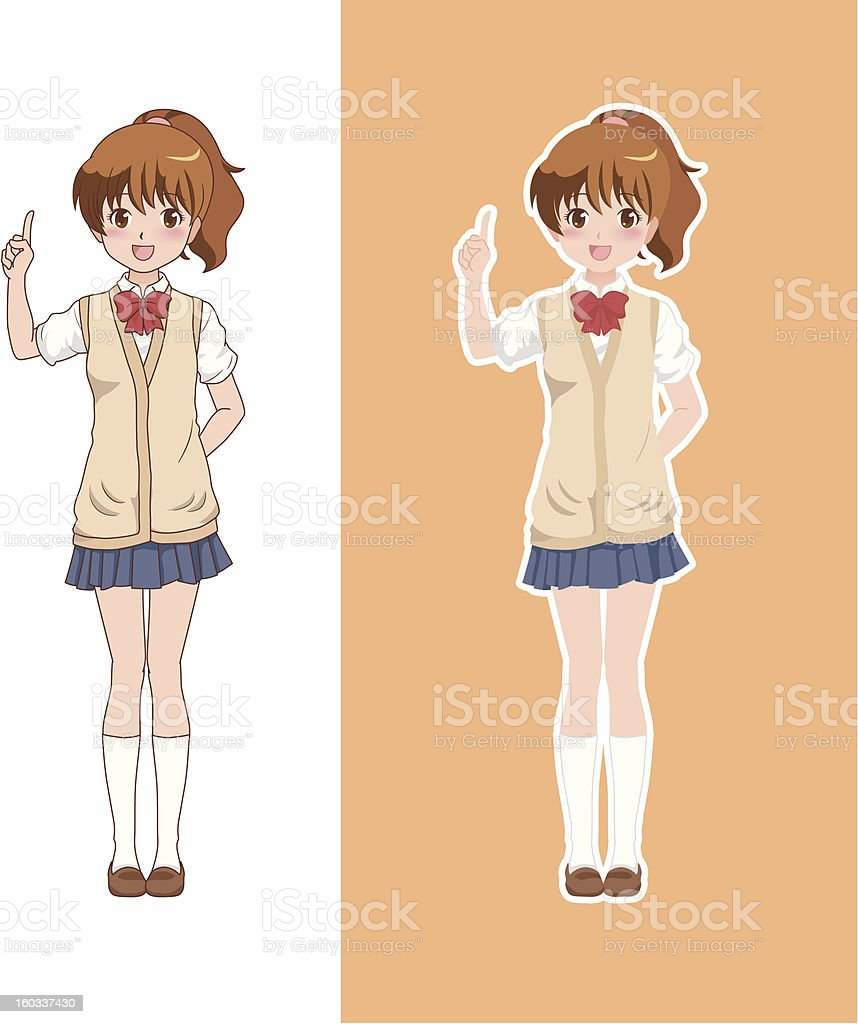 girl_point royalty-free stock vector art