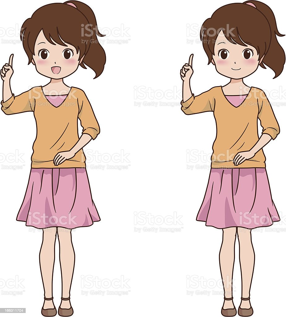 girl_point royalty-free stock vector art