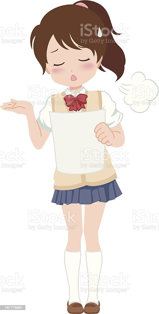 girl_sigh royalty-free stock vector art