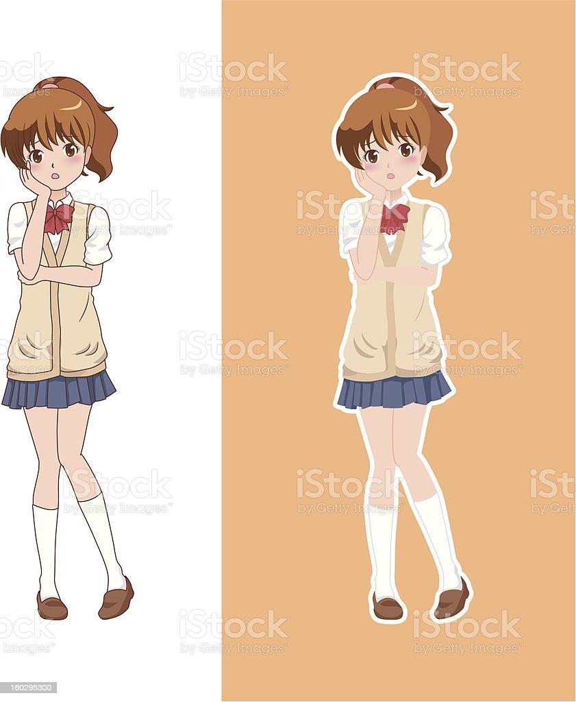 girl_think royalty-free stock vector art