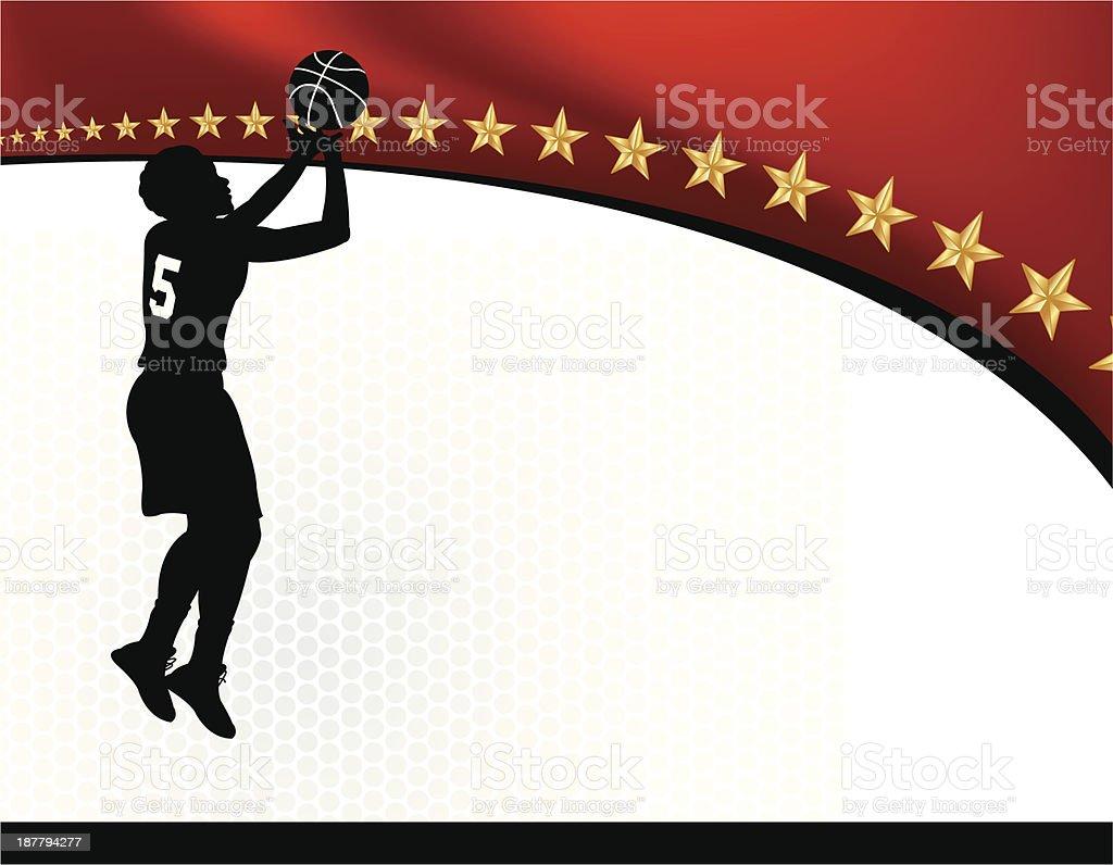 Girls Basketball Background royalty-free stock vector art