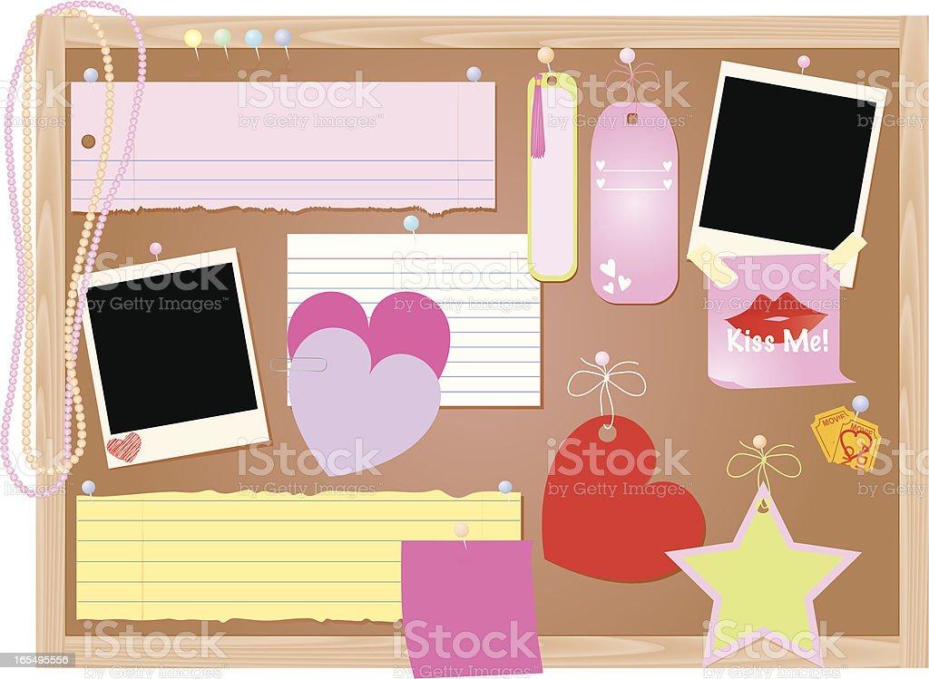 Girl's Bulletin Board royalty-free stock vector art