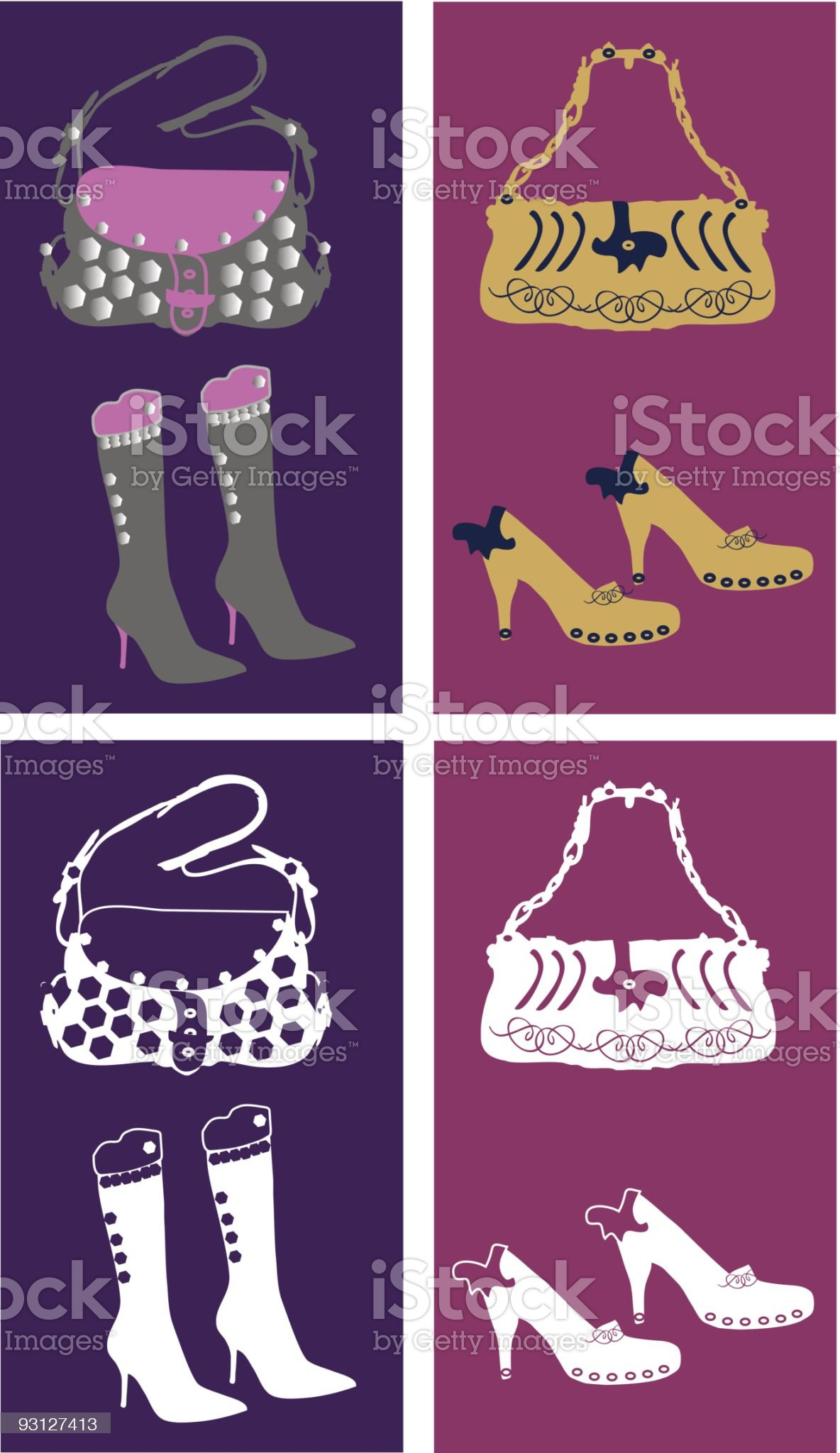 Girls fashion accessories royalty-free stock vector art