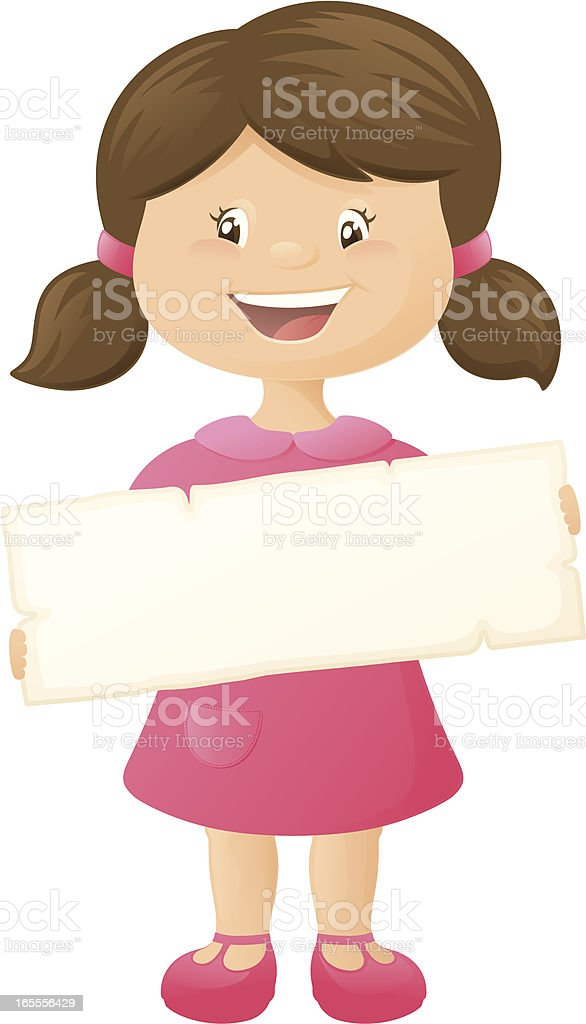 Girl's Message2 - incl. jpeg royalty-free stock vector art