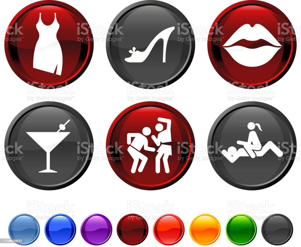 girl's night out royalty free vector icon set vector art illustration