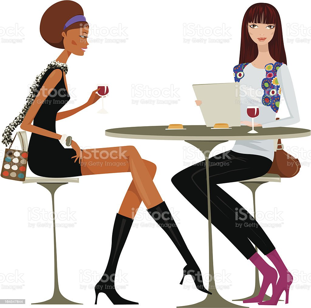 Girls night out royalty-free stock vector art