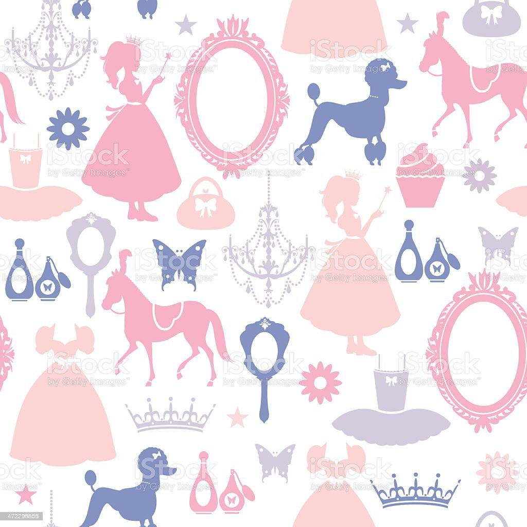 Girls Pattern royalty-free stock vector art