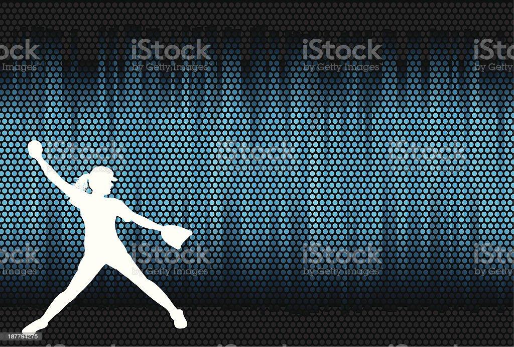 Girls Softball Background royalty-free stock vector art