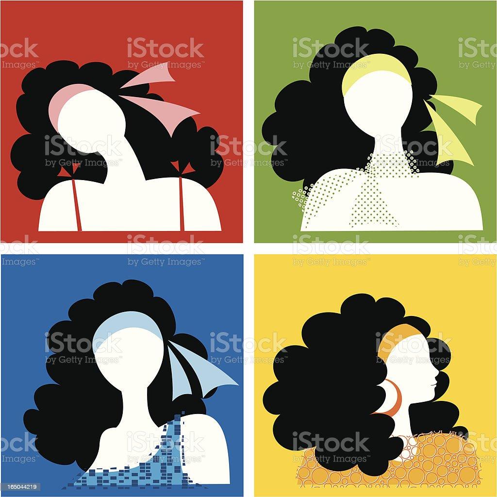girls royalty-free stock vector art