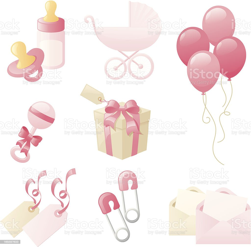 Girly Baby Collection vector art illustration
