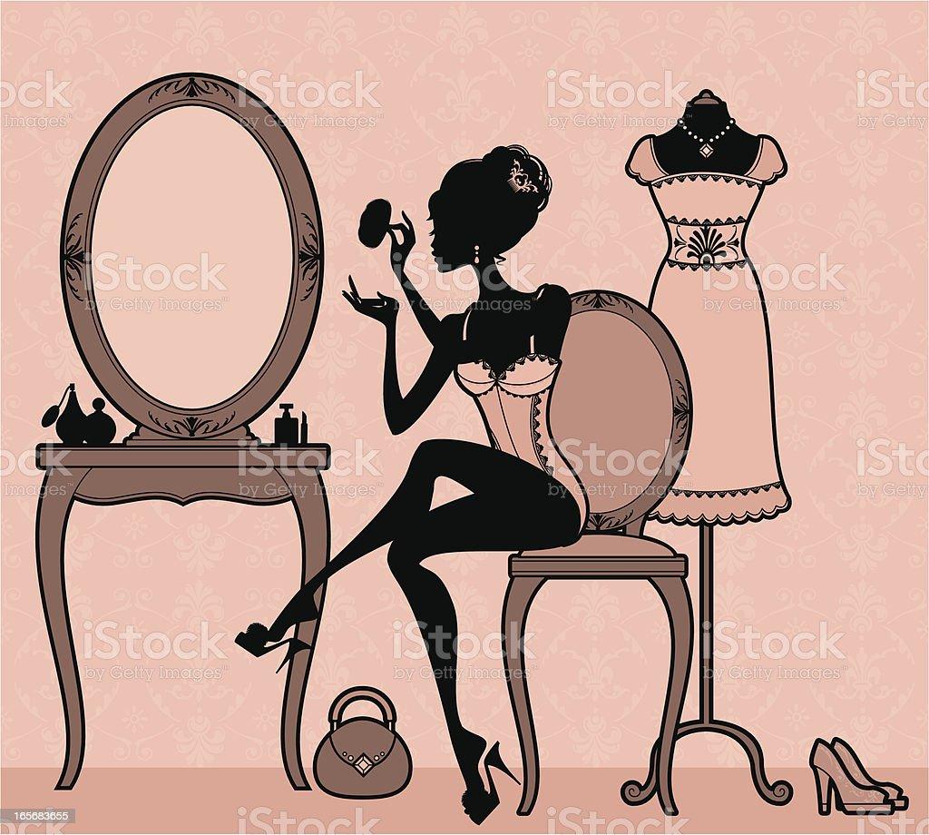 Girly Dressing vector art illustration