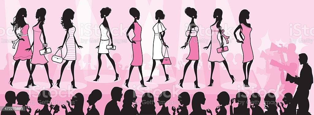 Girly Fashion Show royalty-free stock vector art