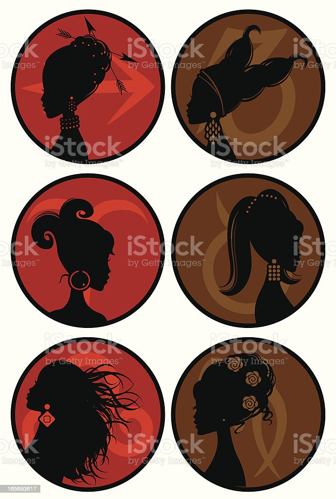 Girly Horoscope Signs - Fire and Earth royalty-free stock vector art