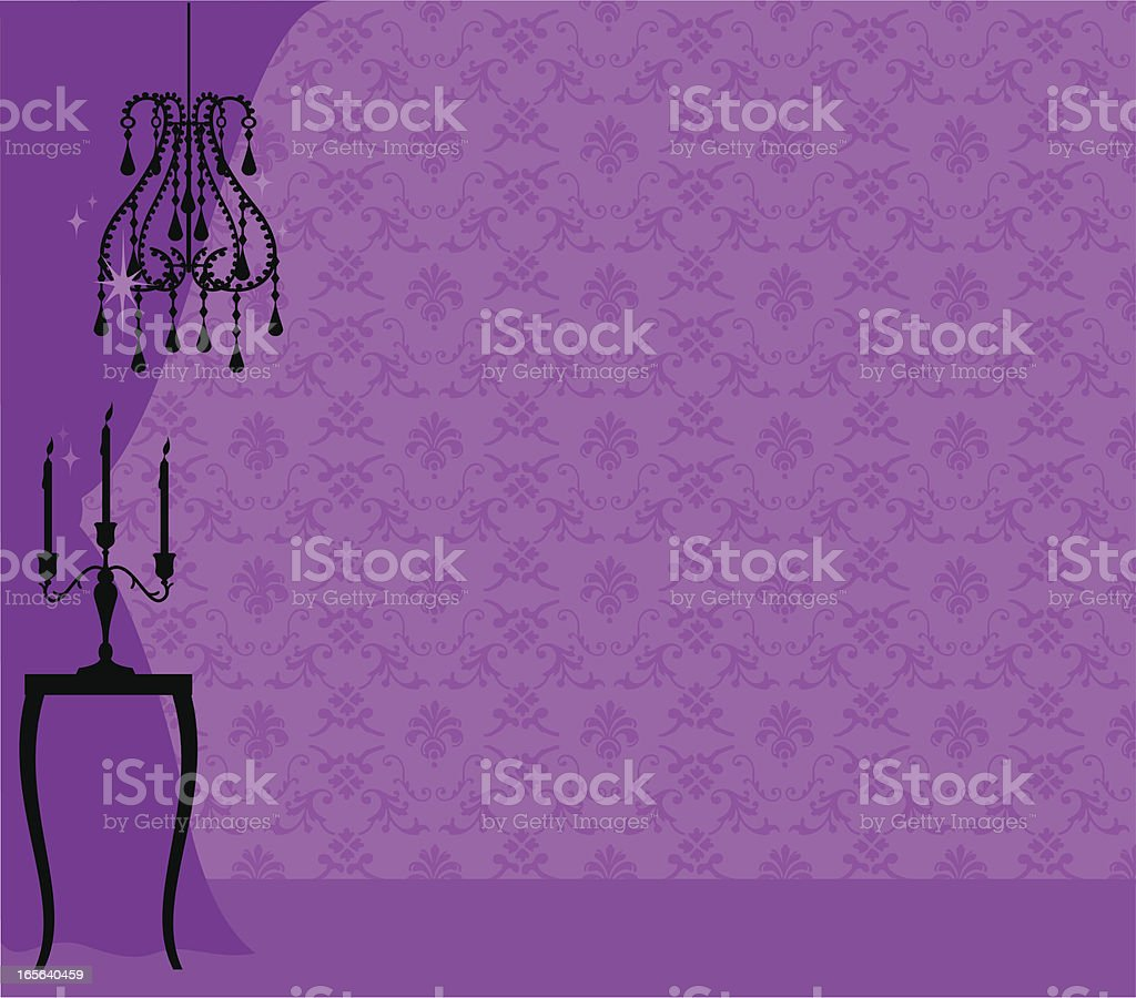 Girly Interior royalty-free stock vector art