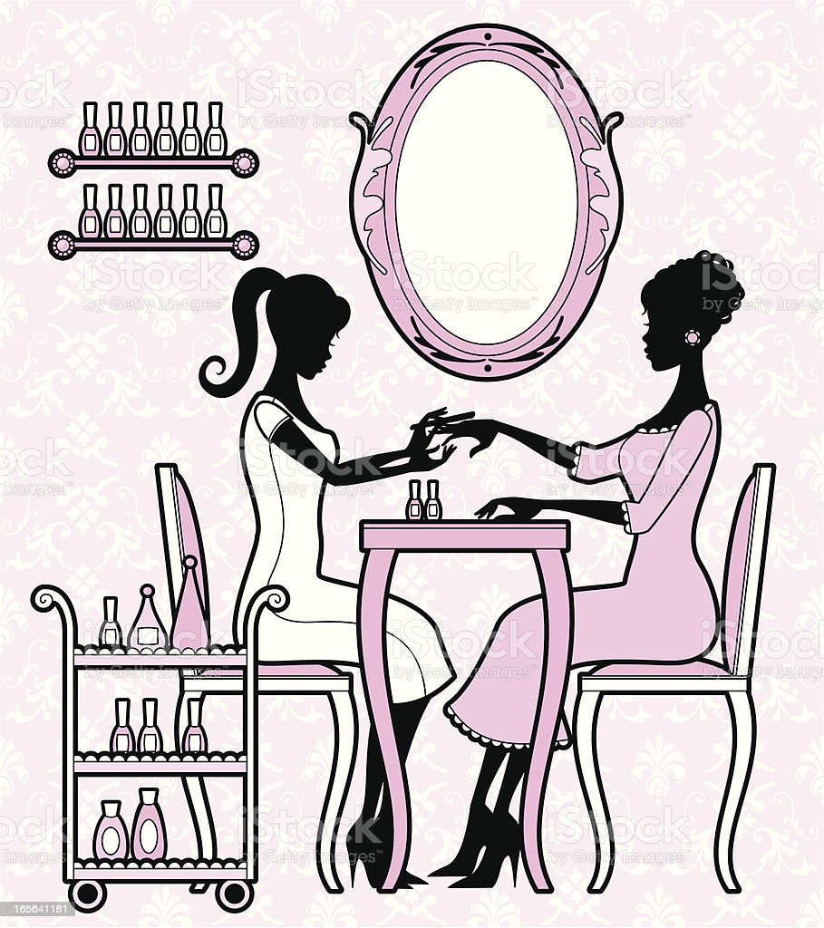 Girly Manicure royalty-free stock vector art