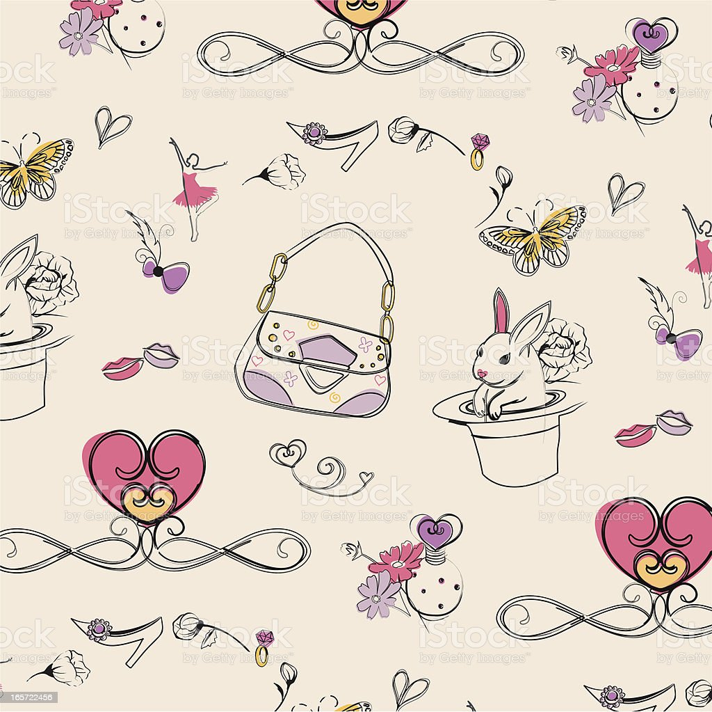 girly pattern design royalty-free stock vector art