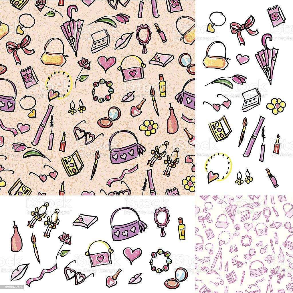 Girly Things vector art illustration