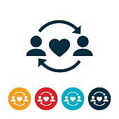 Give and Take Relationship Icon