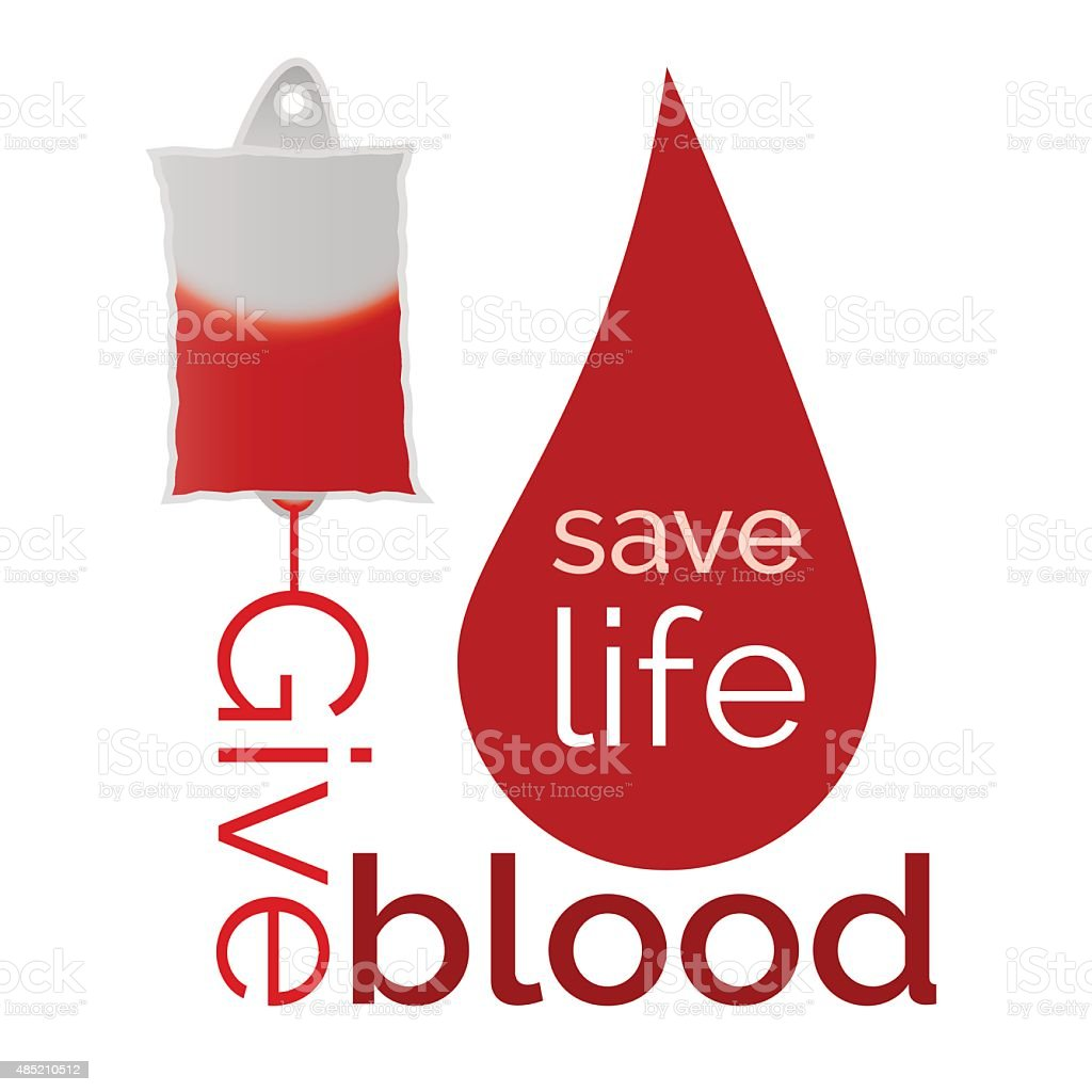 Give blood vector art illustration
